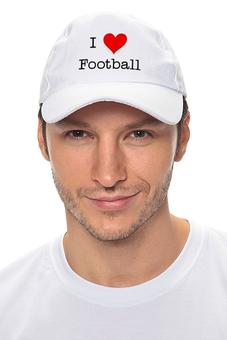 "Кепка ""Я люблю футбол"" - футбол, любовь, арт, love, спорт, i love, football, я люблю"