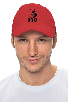 """Кепка """"2017 - год Красного Петуха"""" - новый год, петух, 2017"""