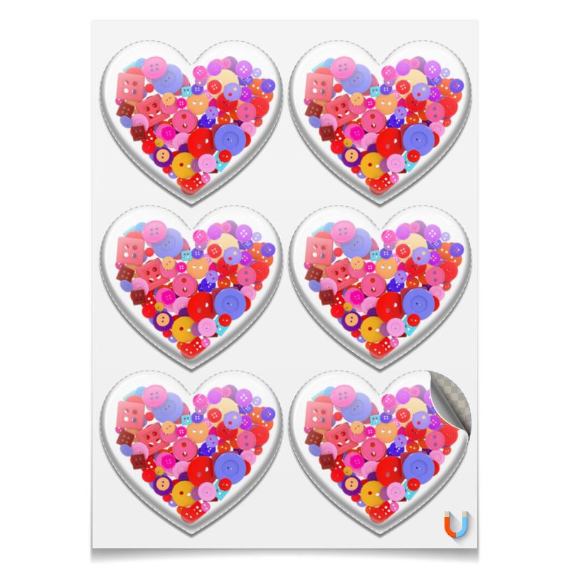 Магниты сердца Printio День всех влюбленных