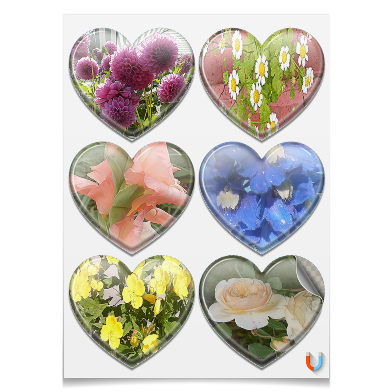 Фото - Магниты сердца Printio Цветущие сердца. сердца