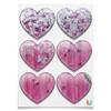 """Магниты сердца """"Розовое настроение"""" - любовь, розовый, нежность, серебро, женское"""