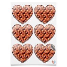 """Магниты сердца """"Дикая малина"""" - красный, ягоды, малина, сладкий, аромат"""