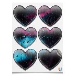 """Магниты-сердца 7.5x9.7см """"Дождь"""" - лето, дождь, вселенная, storm, тоска"""