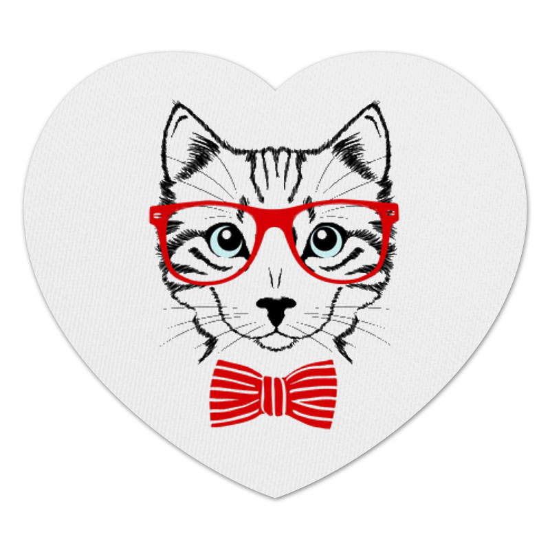 Коврик для мышки (сердце) Printio Кошка коврик для мышки printio серая кошка