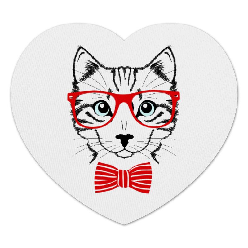 Коврик для мышки (сердце) Printio Кошка коврик для мышки printio серая кошка page 1