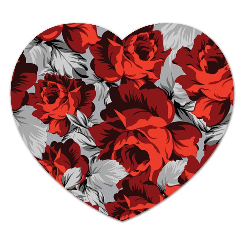 Коврик для мышки (сердце) Printio Розы цветущие