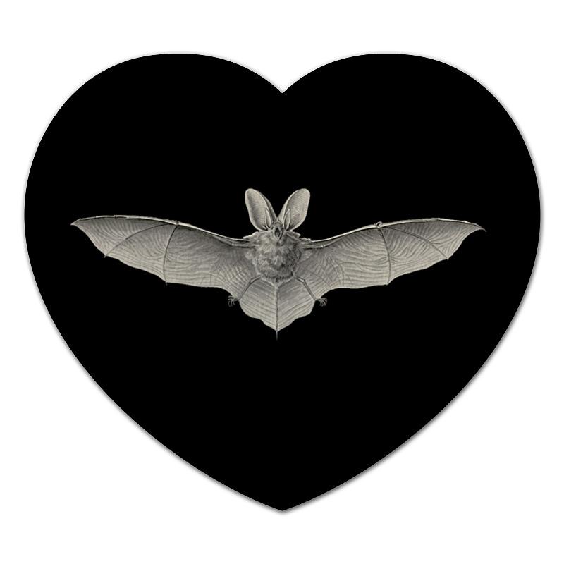Коврик для мышки (сердце) Printio Летучая мышь, ernst haeckel