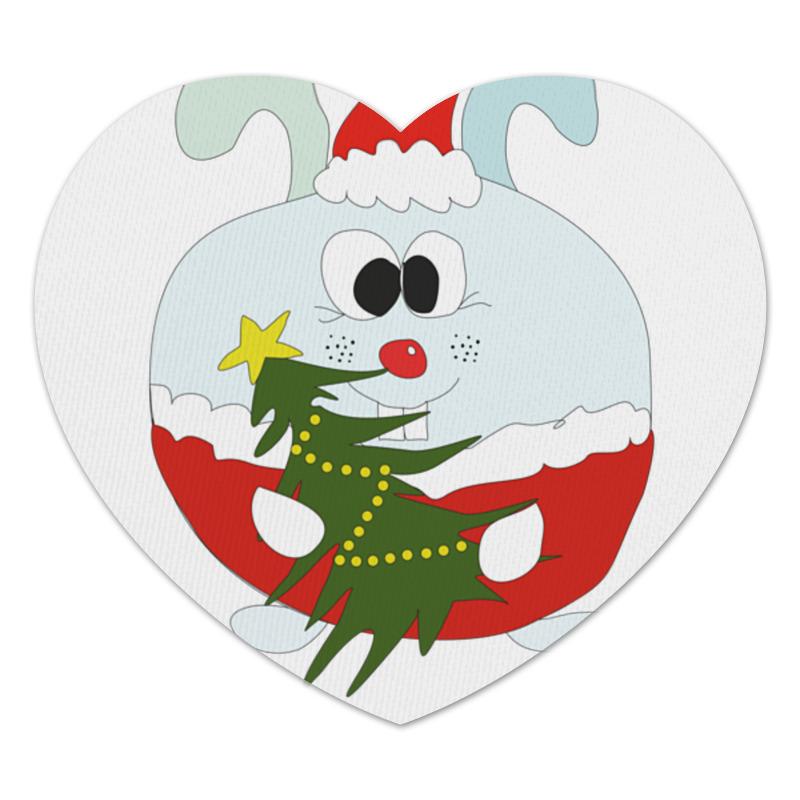 Коврик для мышки (сердце) Printio Новогодний заяц блокнот printio новогодний лось
