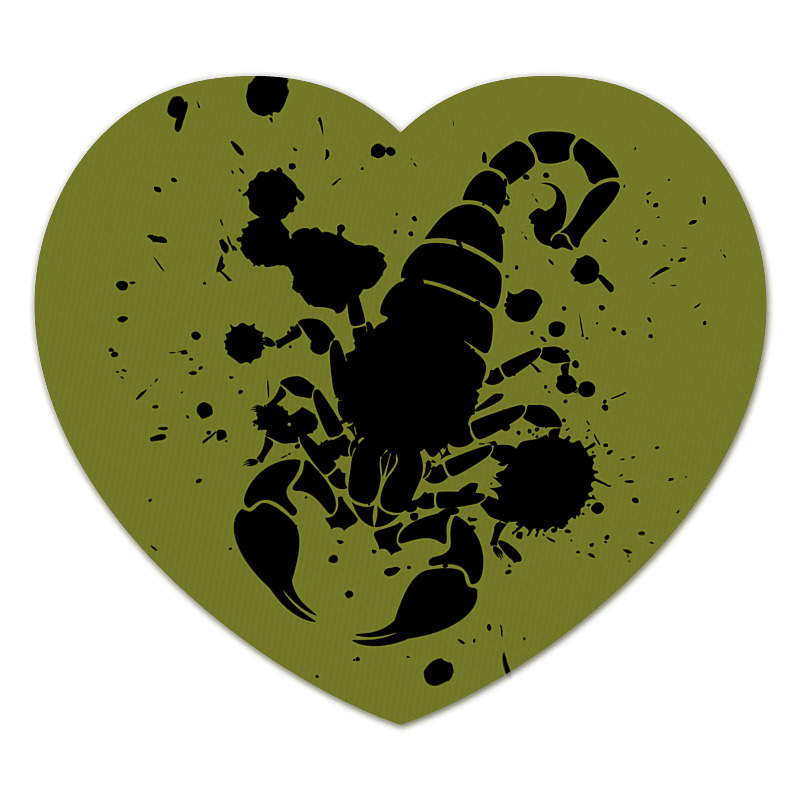 Коврик для мышки (сердце) Printio Скорпион (24.10-21.11) спусковой механизм для арбалетов скорпион interloper cr 013006