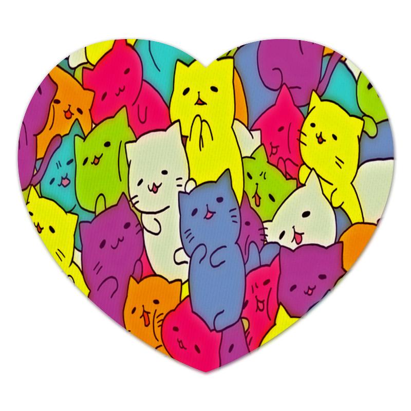 Коврик для мышки (сердце) Printio Котята коврик для мышки printio таблица умножения