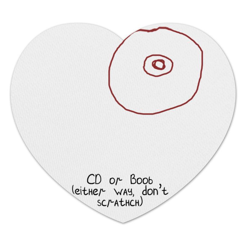 Коврик для мышки (сердце) Printio Cd или титя