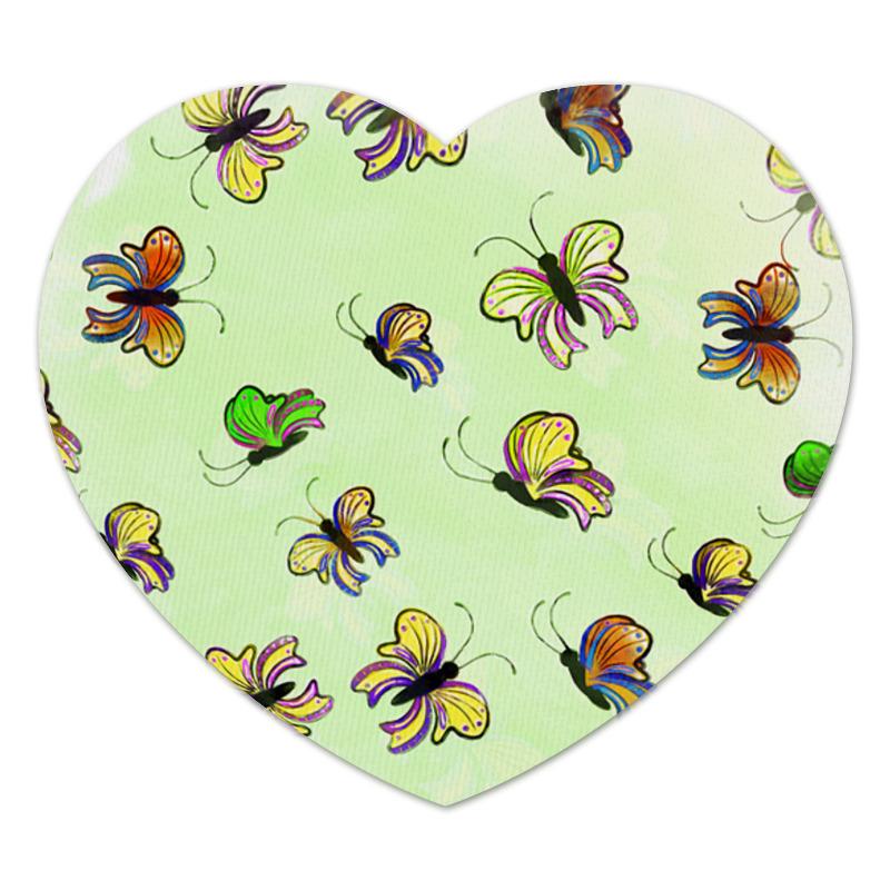 Коврик для мышки (сердце) Printio Бабочки