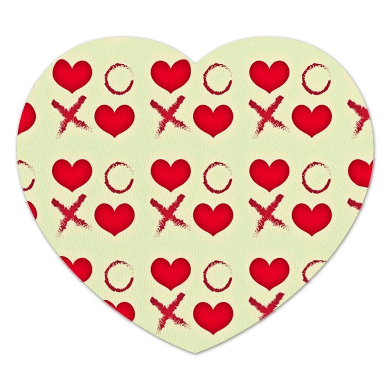 Коврик для мышки (сердце) Printio Крестики нолики