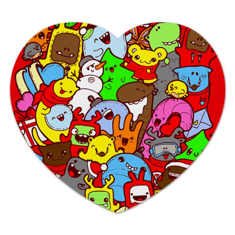 Коврик для мышки (сердце) Printio Дудлы коврик для мышки сердце printio дудлы