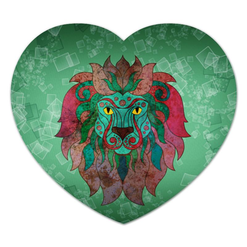 Коврик для мышки (сердце) Яркий лев