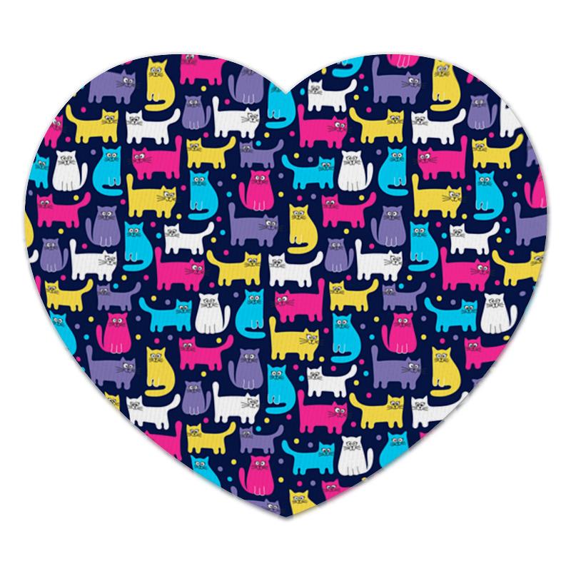 Коврик для мышки (сердце) Printio Кошки коврик для мышки сердце printio кошки