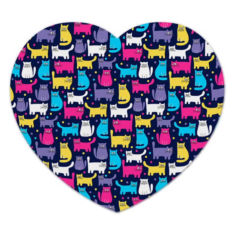 Коврик для мышки (сердце) Printio Кошки игрушка эксмо кошки мышки