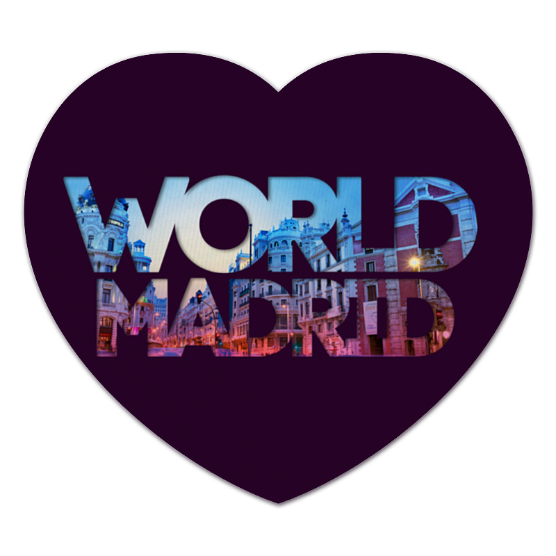 Коврик для мышки (сердце) Printio different world: madrid mutua madrid open afterwork pass