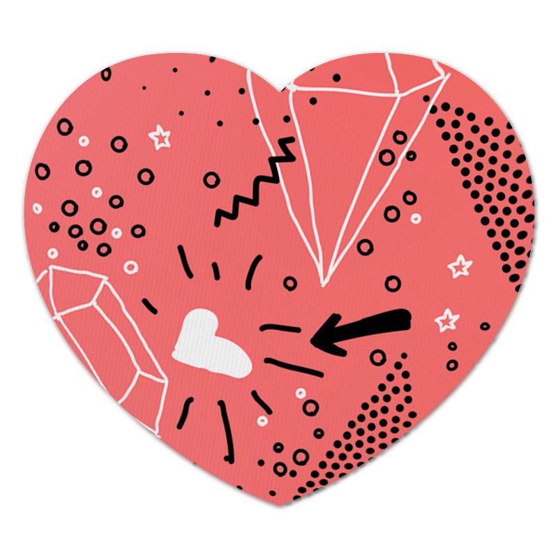 Коврик для мышки (сердце) Кристалл