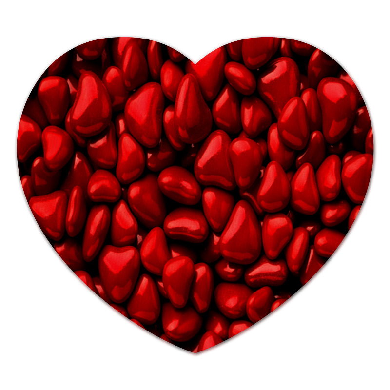 Коврик для мышки (сердце) Printio Множество сердец
