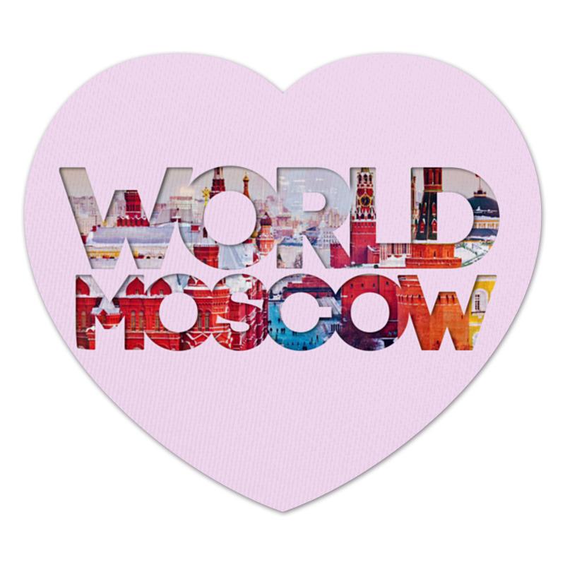 Коврик для мышки (сердце) Printio different world: moscow different market different practice