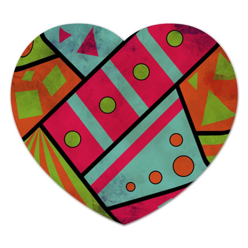 Коврик для мышки (сердце) Яркая геометрия