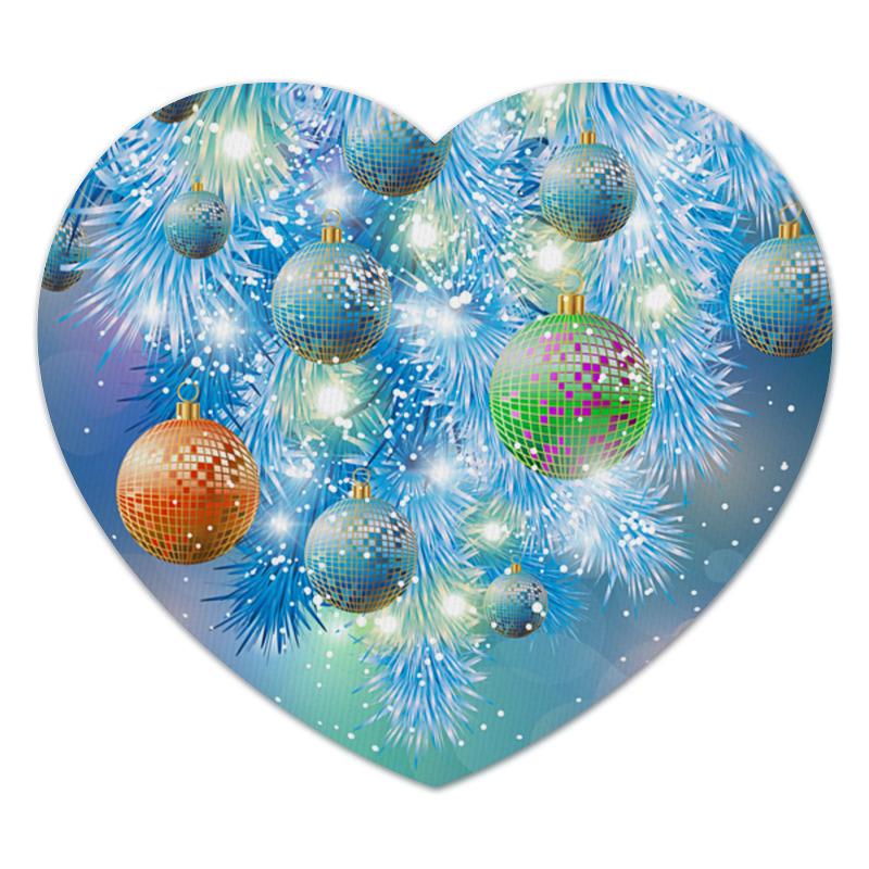 Коврик для мышки (сердце) Новогодний