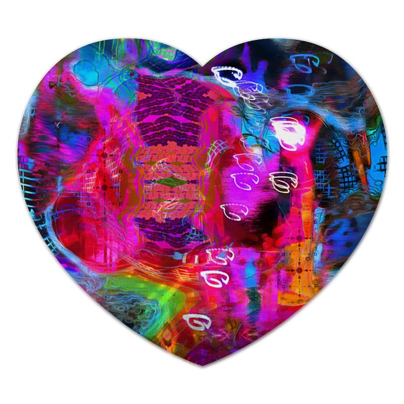 Коврик для мышки (сердце) Printio Abstract raster 372 стоимость