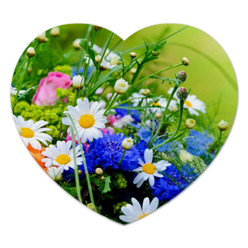 Коврик для мышки (сердце) Printio Цветы