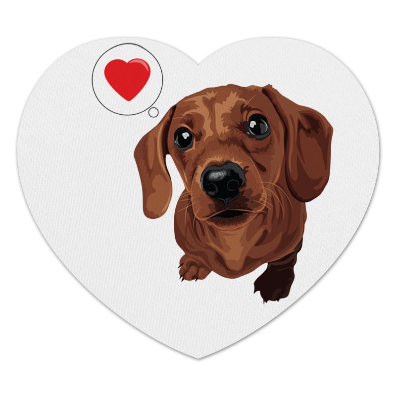 Коврик для мышки (сердце) Printio Такса -любовь цена