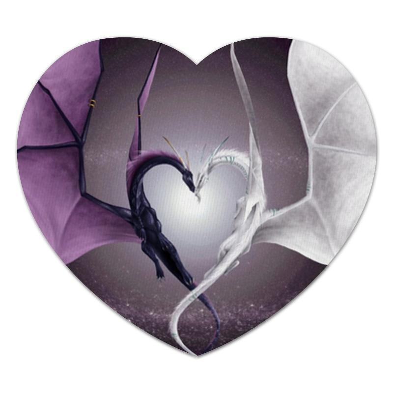 Коврик для мышки (сердце) Printio Драконы