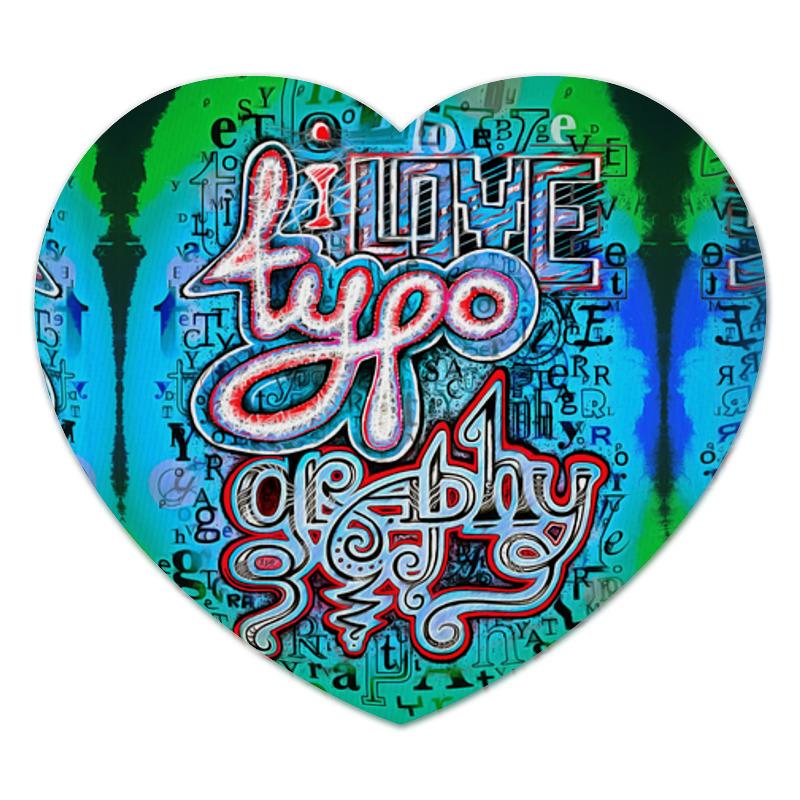 Коврик для мышки (сердце) Printio I love typography коврик для мышки сердце printio love is boundless
