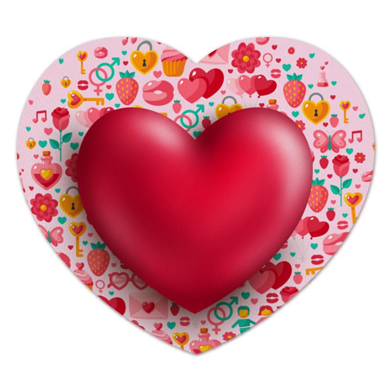 Коврик для мышки (сердце) Printio Сердце фабрика демьяновъ коврик в ванну анна силивончик маленькое сердце
