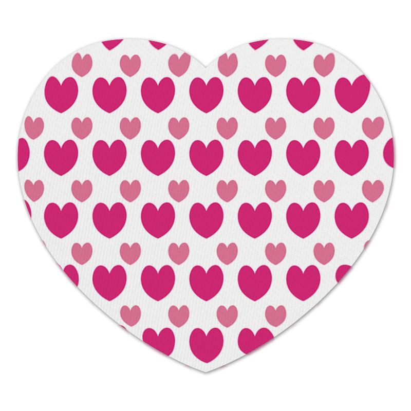 Коврик для мышки (сердце) Printio Розовые сердечки