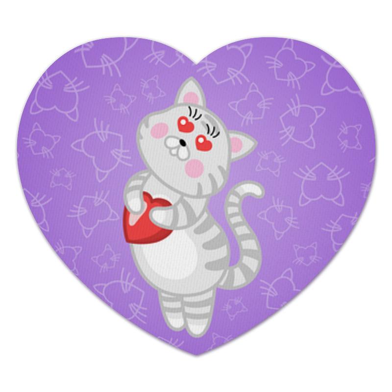 Коврик для мышки (сердце) Printio Влюбленная кошечка коврик для мышки printio серая кошка