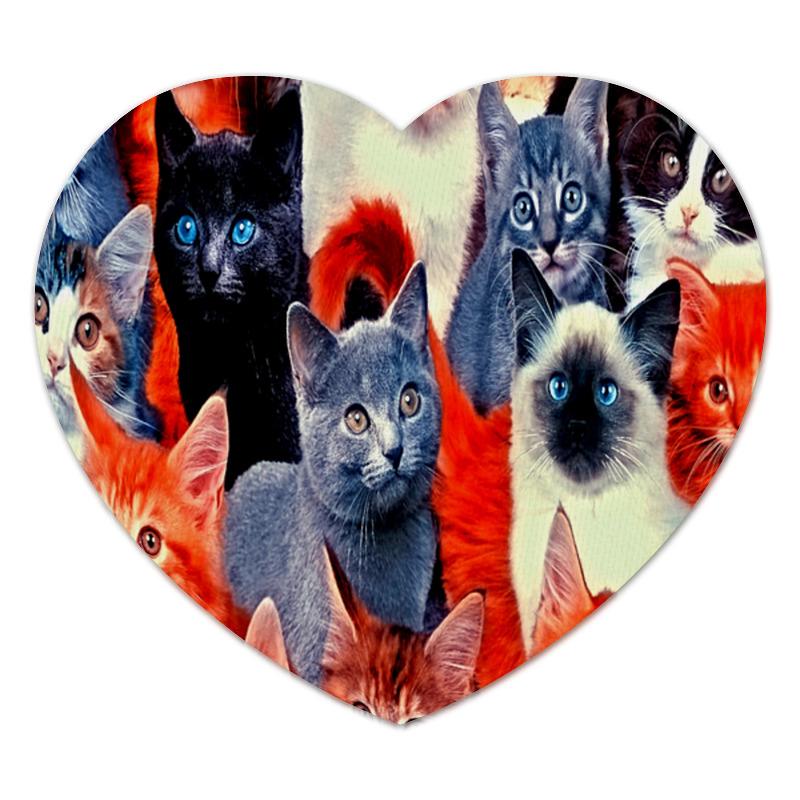 Коврик для мышки (сердце) Printio Кошки для кошки