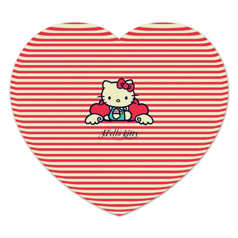 Коврик для мышки (сердце) Printio Ретро (hello kitty) cxzyking 20cm sweet new kt cat hello kitty plush toys cute hug mushroom hello kitty kt cat pillow dolls for kids baby girl gift