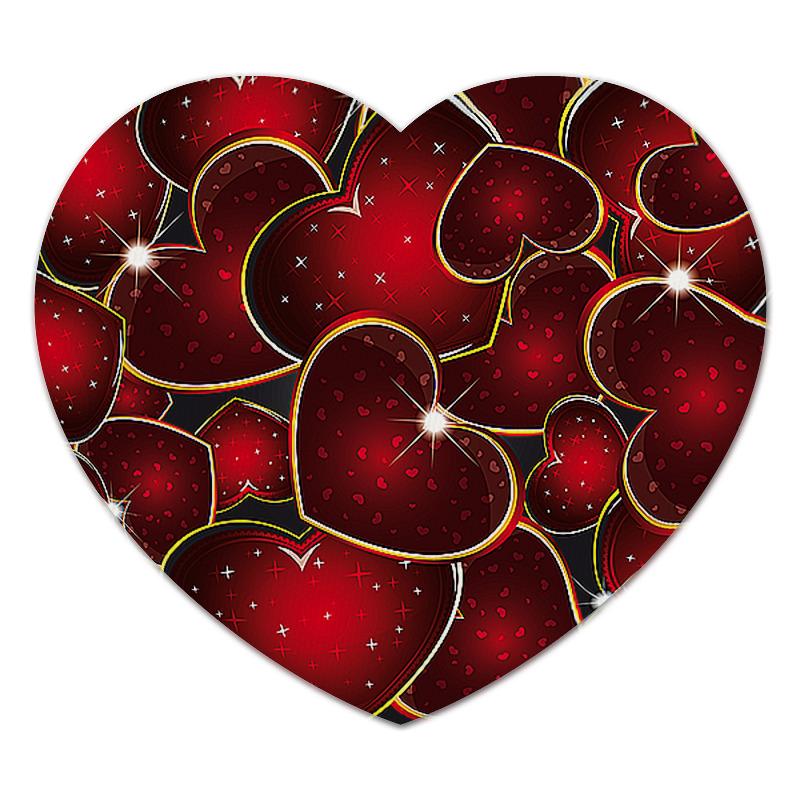 Коврик для мышки (сердце) Printio Яркое сердце коврик для мышки сердце printio pepe frog