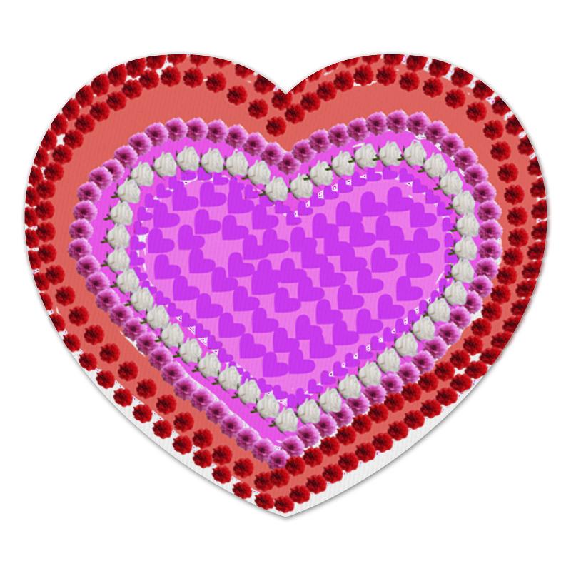 Коврик для мышки (сердце) Printio Сердце из цветов коврик для мышки сердце printio чайная роза