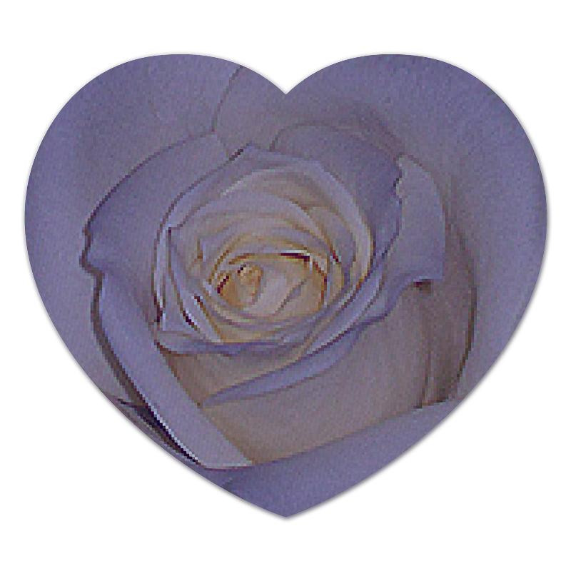 Коврик для мышки (сердце) Printio Синяя роза. коврик для мышки сердце printio чайная роза