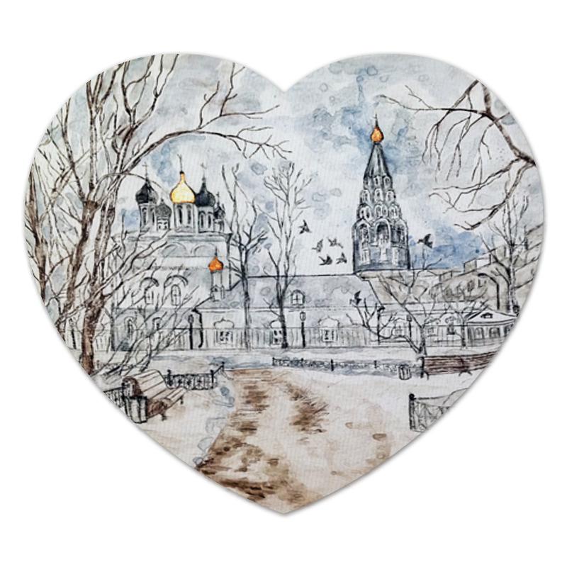Коврик для мышки (сердце) Printio московский дворик зимой 12 часть дома пушкинский районе московский области