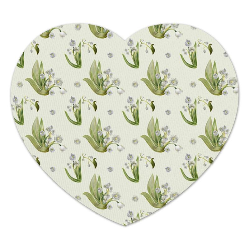 Коврик для мышки (сердце) Printio Ландыши коврик для мышки сердце printio ландыши