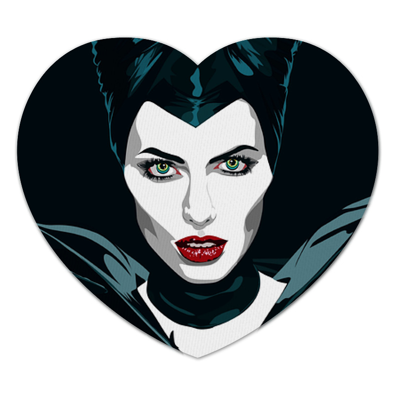 Коврик для мышки (сердце) Printio Maleficent (анджелина джоли) коврик для мышки сердце printio дудлы