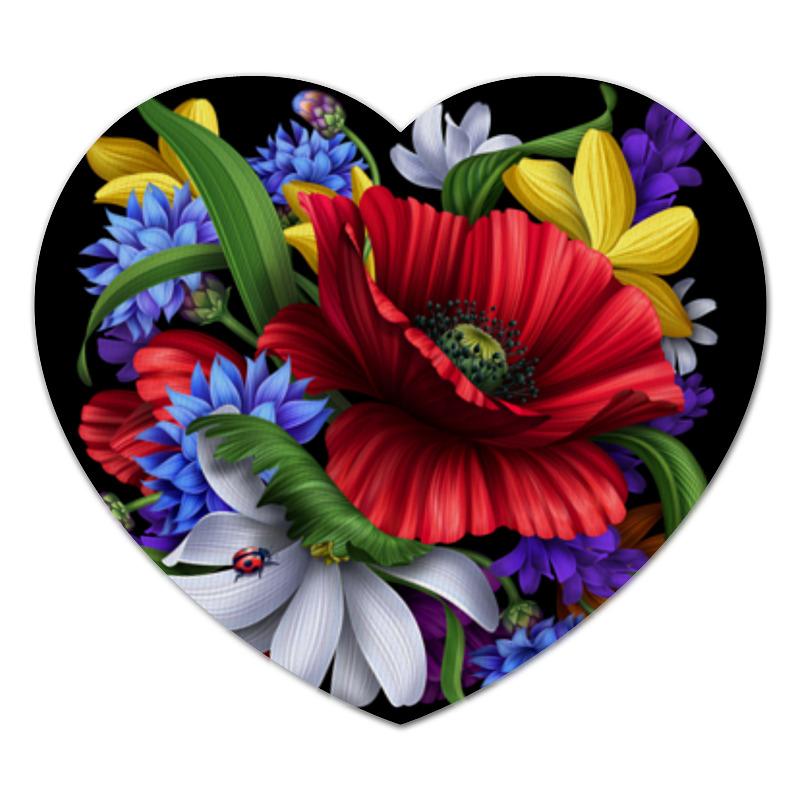 Коврик для мышки (сердце) Printio Композиция цветов композиция из цветов и конфет
