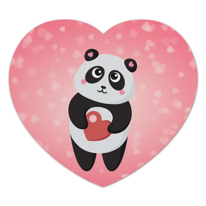 Коврик для мышки (сердце) Панда с сердечком