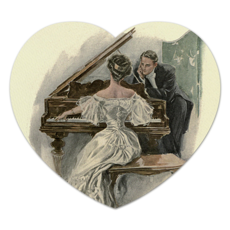 Коврик для мышки (сердце) на 8 Марта учителю музыки