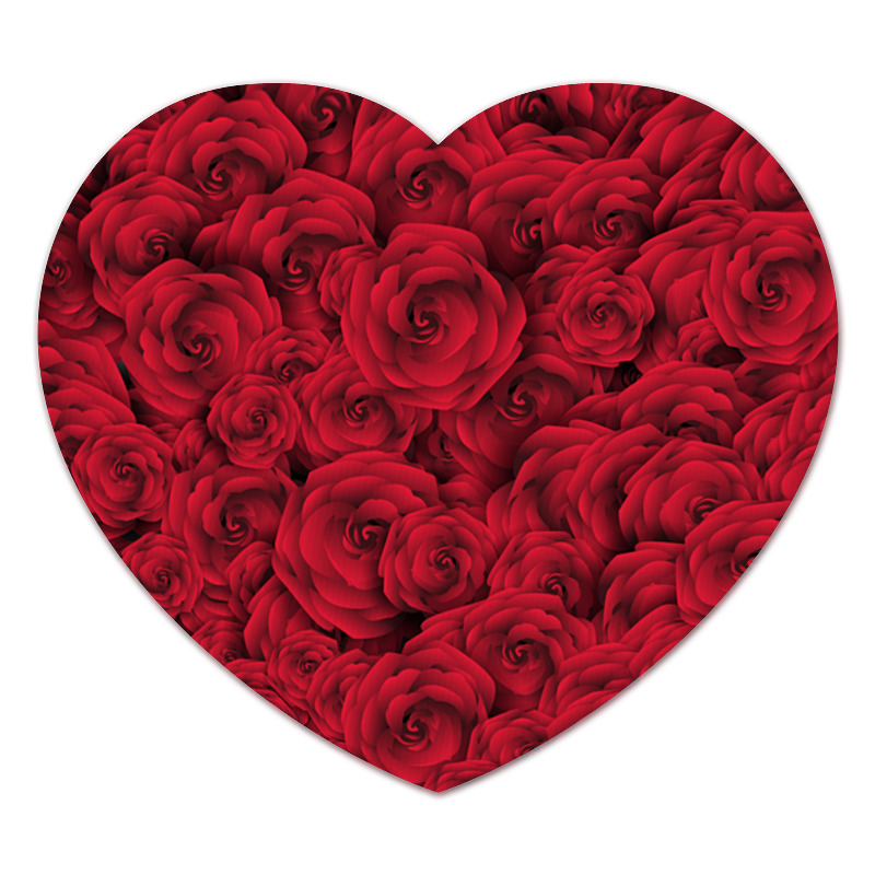 Коврик для мышки (сердце) Printio Roses бордюр keros ceramica varna cen roses 5х50