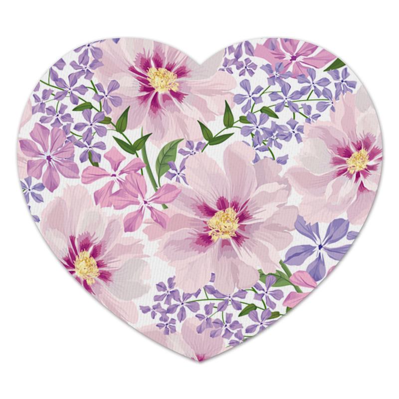Коврик для мышки (сердце) Printio Нежные цветы коврик для мышки сердце printio лесные цветы