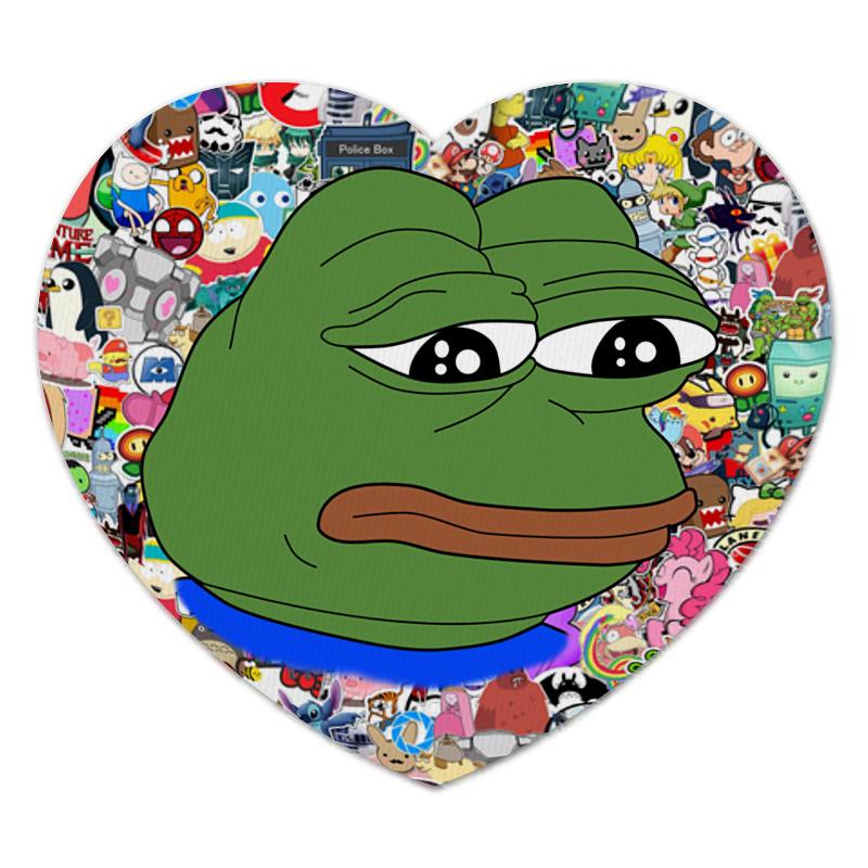 Коврик для мышки (сердце) Printio Sad frog коврик для мышки сердце printio pepe frog
