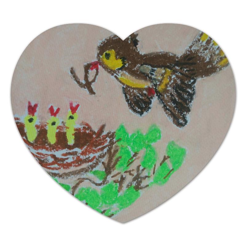 Коврик для мышки (сердце) Printio Птичка